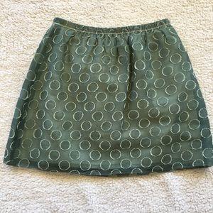J. Crew Silk and Linen Organza Dots Skirt, 2